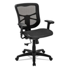 Alera Elusion EL42B18 Mesh Back and Seat Mid-Back Tilter Chair With Arms