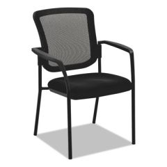 Alera® Mesh Guest Stacking Chair, Black