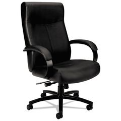 Hon Basyx VL685 Series Big & Tall Leather Chair, Supports up to 450 lbs., Black
