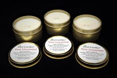 Pure Unscented Candle Gift Set in Gold Tins