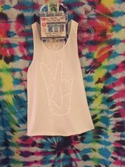 """Yak Attack"" Tank (White on White... Leave alone or TIE DYE)"