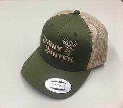 MILITARY GREEN/TAN TRUCKER HAT