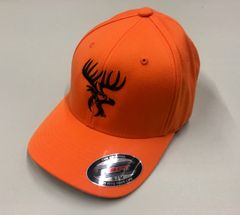 Orange Flex-Fit hat with Black Logos