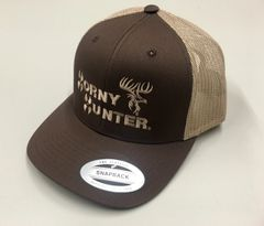 Brown and Tan Truckers Hat