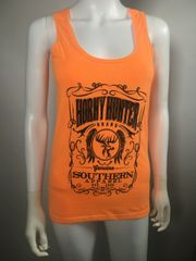 Ladies Safety Orange Whiskey tank top