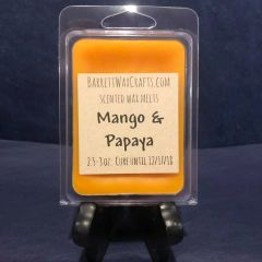 Mango & Papaya scented wax melt.