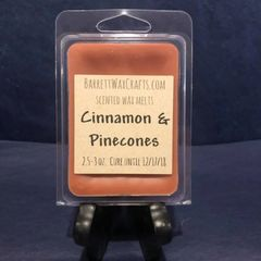 Cinnamon & Pinecones scented wax melt.