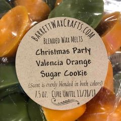 Blended Melts: Christmas Party + Valencia Orange + Sugar Cookie