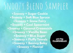 Snoozy Blend Sampler - Ten Full Size Clamshells