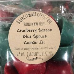 Blended Melts: Cranberry Season + Blue Spruce + Cookie Jar