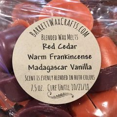 Blended Melts: Red Cedar + Warm Frankincense + Madagascar Vanilla