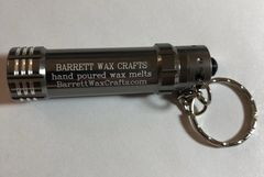 Barrett Wax Crafts gunmetal keychain LED flashlight