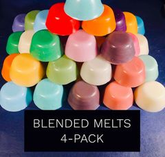 Blended Melts 4-pack: Raspberry & Vanilla + Coconut Creamsicle + Marshmallow Fireside