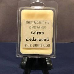 Citron Cedarwood scented wax melt.