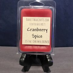 Cranberry Spice scented wax melt.