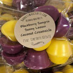 Blended Melts: Blackberry Sangria + Sunny Lemon + Coconut Creamsicle