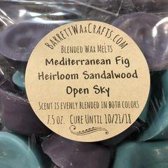 Blended Melts: Mediterranean Fig + Heirloom Sandalwood + Open Sky