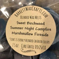Blended Melts: Sweet Birchwood + Summer Night Campfire + Marshmallow Fireside