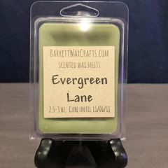 Evergreen Lane scented wax melt.