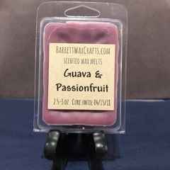Guava & Passionfruit scented wax melt.