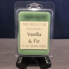 Vanilla & Fir scented wax melt.