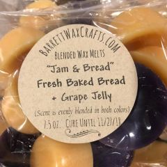 "Blended Melts: ""Jam & Bread"" Fresh Baked Bread with Grape Jelly"