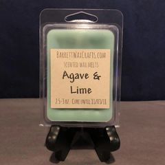 Agave & Lime scented wax melt.