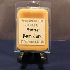 Butter Rum Cake scented wax melt.