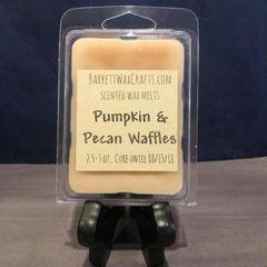 Pumpkin & Pecan Waffles scented wax melt.
