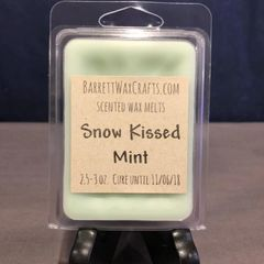 Snow Kissed Mint scented wax melt.