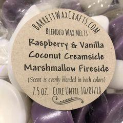 Blended Melts: Raspberry & Vanilla + Coconut Creamsicle + Marshmallow Fireside