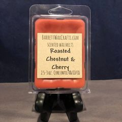 Roasted Chestnut & Cherry scented wax melt.