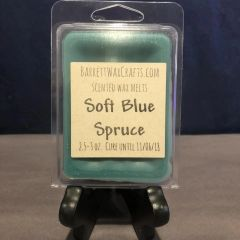 Soft Blue Spruce scented wax melt.