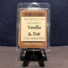 Vanilla & Oak scented wax melt.