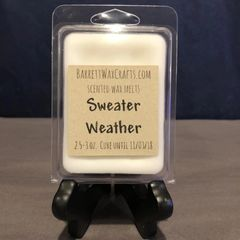 Sweater Weather scented wax melt.