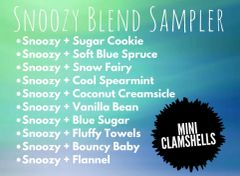 Snoozy Blend Sampler - Ten Mini Clamshells