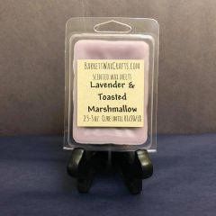 Lavender & Toasted Marshmallow scented wax melt.