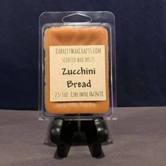 Zucchini Bread scented wax melt.
