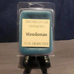 Woodsman scented wax melt.