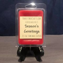 Season's Greetings scented wax melt.