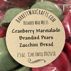 Blended Melts: Cranberry Marmalade + Brandied Pears + Zucchini Bread