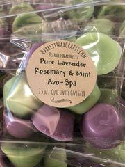Blended Melts: Pure Lavender + Rosemary & Mint + Avo-Spa