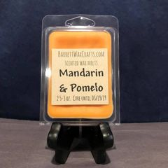 Mandarin & Pomelo scented wax melt.