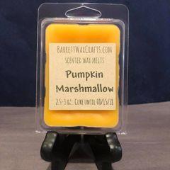 Pumpkin Marshmallow scented wax melt.