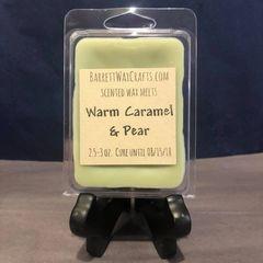 Warm Caramel & Pear scented wax melt.