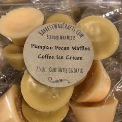 Blended Melts: Pumpkin Pecan Waffles + Coffee Ice Cream