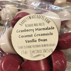 Blended Melts: Cranberry Marmalade + Coconut Creamsicle + Vanilla Bean