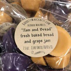 "Blended Melts: ""Jam and Bread"" fresh baked bread and grape jam"
