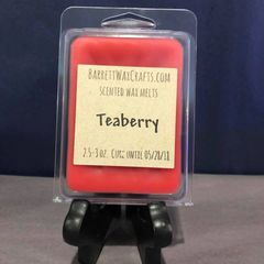 Teaberry scented wax melt.