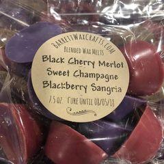 Blended Melts: Black Cherry Merlot + Sweet Champagne + Blackberry Sangria